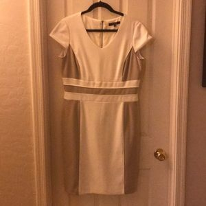 Camel and cream dress